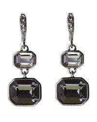 Givenchy | Black Hematite-Tone Drop Earrings | Lyst