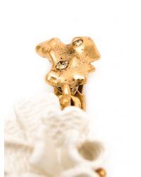 Oscar de la Renta - White Coral Earrings - Lyst
