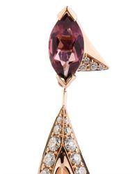 Shaun Leane | Pink Diamond, Tourmaline & Rose-Gold Earrings | Lyst