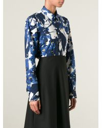 Marni - Blue Printed Shirt - Lyst