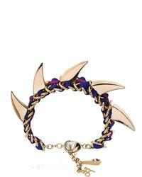 John & Pearl - Purple Spike Bracelet - Lyst