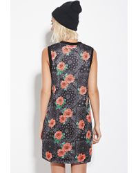 Forever 21 - Black Eric + Lani Rose Print Mesh Dress - Lyst