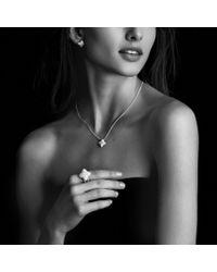 David Yurman - Metallic Quatrefoil Earrings with Diamonds in Gold - Lyst