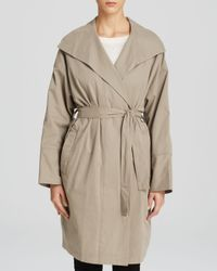 DKNY - Natural Pure Drape Front Trench Coat - Lyst
