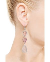 Nina Runsdorf - Multicolor One Of A Kind Pink and Lavender Tourmaline Slice Earrings - Lyst