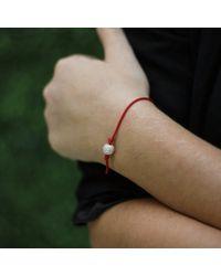 Shamballa Jewels - Red Pave Diamond Bead Bracelet - Lyst