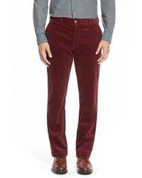 Vineyard Vines - Red Straight Leg Stretch Corduroy Pants for Men - Lyst