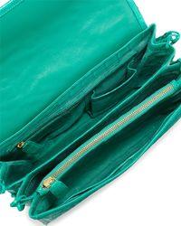 Nancy Gonzalez - Blue Embellished Crocodile Shoulder Bag - Lyst