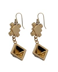 Lulu Frost - Metallic Terraced Geometric Drop Earrings - Lyst