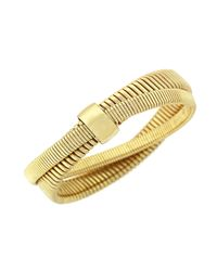BCBGeneration | Metallic Golden Coil Bracelet | Lyst