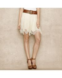 Ralph Lauren Blue Label | White Scalloped Lace Skirt | Lyst