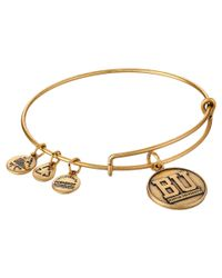 ALEX AND ANI - Metallic Boston University™ Logo Charm Bangle - Lyst