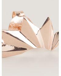 Maria Black | Pink 'wing' Left Single Earring | Lyst