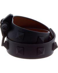 Givenchy - Black Pyramid Stud Obsedia Wrap Bracelet - Lyst