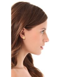 Gorjana | Metallic Peace & Heart Studs - Gold | Lyst