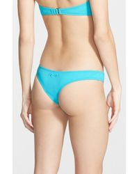 Rip Curl | Blue 'love & Surf' Cheeky Bikini Bottoms | Lyst