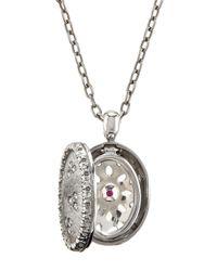 Roberto Coin - Metallic 18k Diamond Granada Locket Necklace - Lyst