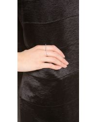 Jacquie Aiche - Red Diamond Bar Knuckle Ring - Lyst
