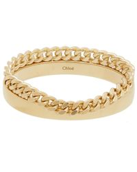 Chloé | Metallic Gold-tone Carly Chain Bracelet | Lyst