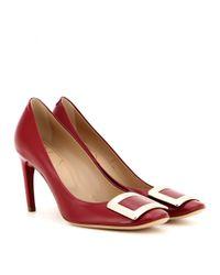 Roger Vivier | Red Belle De Nuit Patent Leather Pumps | Lyst