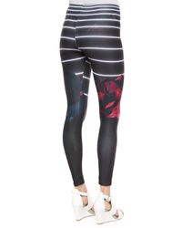 We Are Handsome - Gray Avenger Printed Neoprene Leggings - Lyst