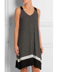 DKNY - Black Avenue D Striped Jersey Nightdress - Lyst