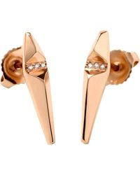 Monique Péan | Pink Diamond Ascent Stud Earrings | Lyst