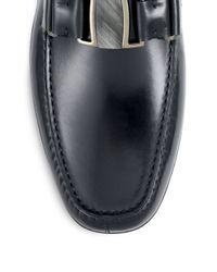Ferragamo - Black Sardegna Leather Drivers for Men - Lyst