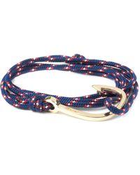 Miansai | Navy Blue Gold Plated Hook On Rope Bracelet for Men | Lyst