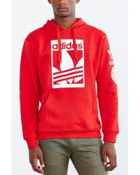 Adidas | Red Originals Box Trefoil Hoodie Sweatshirt for Men | Lyst