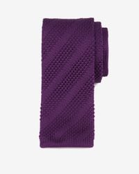 Ted Baker - Purple Knitted Tie for Men - Lyst