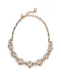 kate spade new york - Metallic 'cocktails & Conversation' Frontal Necklace - Neutral Multi - Lyst