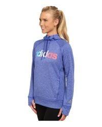 Adidas | Blue Ultimate Fleece Logo Pullover Hoodie | Lyst