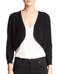 Saks Fifth Avenue | Black Cashmere Bolero Jacket | Lyst