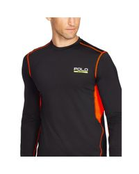 Ralph Lauren - Black Mesh-panel Compression T-shirt for Men - Lyst