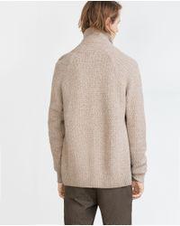 Zara | Brown Structured Wool Cardigan for Men | Lyst