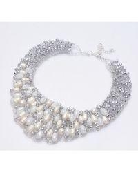 Nakamol | Metallic Isadora Necklace-white Pearl | Lyst