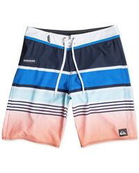 Quiksilver | Blue Everyday Stripe 21 Board Shorts for Men | Lyst