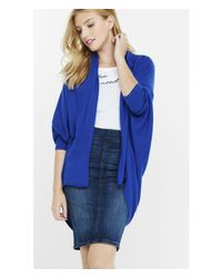 Express - Blue Cocoon Cover Up - Lyst