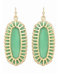 Kendra Scott | Green Dayla Magnesite Canopy Earrings Seafoam | Lyst