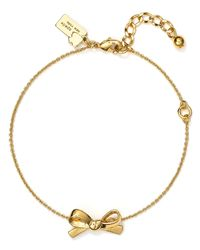 Kate Spade | Metallic Skinny Mini Bow Line Bracelet | Lyst