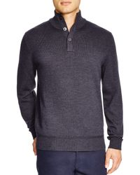 BOSS | Gray Edem Button Neck Sweater - Bloomingdale's Exclusive for Men | Lyst
