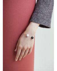 Mango | Metallic Ball Rigid Bracelet | Lyst
