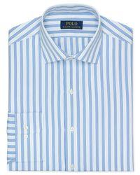 Polo Ralph Lauren | Blue Stripe Dress Shirt for Men | Lyst