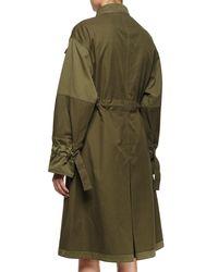 Alexander McQueen - Green Embellished-Collar Cotton Jacket - Lyst