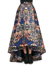 Alice + Olivia | Multicolor Cohe Asymmetric Printed Skirt | Lyst