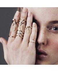 Smith/grey | Metallic Ella Midi Ring Silver | Lyst