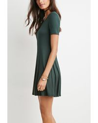 Forever 21 | Green Classic Fit & Flare Dress | Lyst
