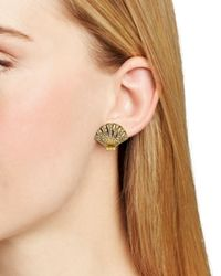 kate spade new york - Metallic Shore Thing Clam Stud Earrings - Lyst