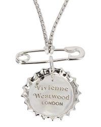 Vivienne Westwood | Metallic Adissa Bottle Top Rhodium Necklace for Men | Lyst
